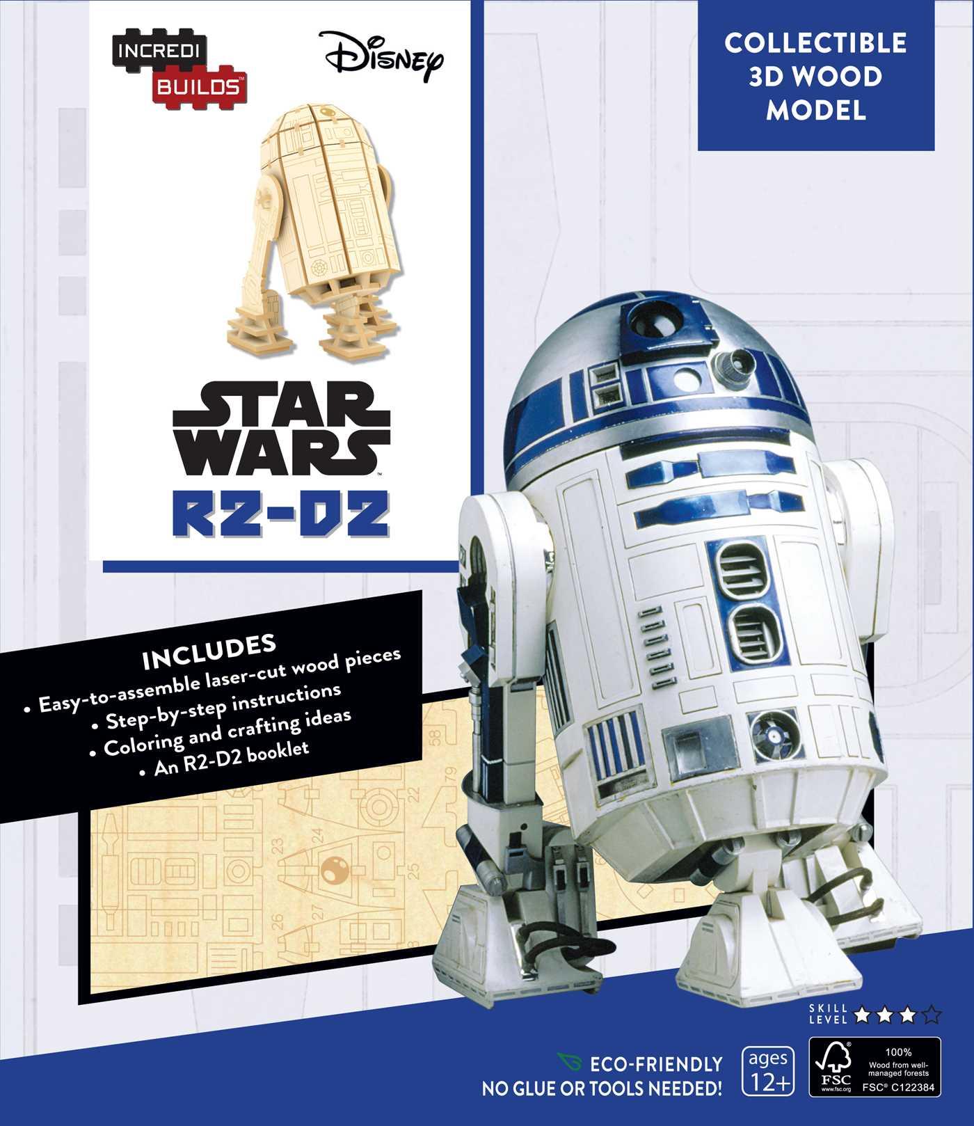 Incredibuilds star wars r2 d2 3d wood model 9781682980279 hr