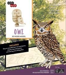 IncrediBuilds: Owl 3D Wood Model