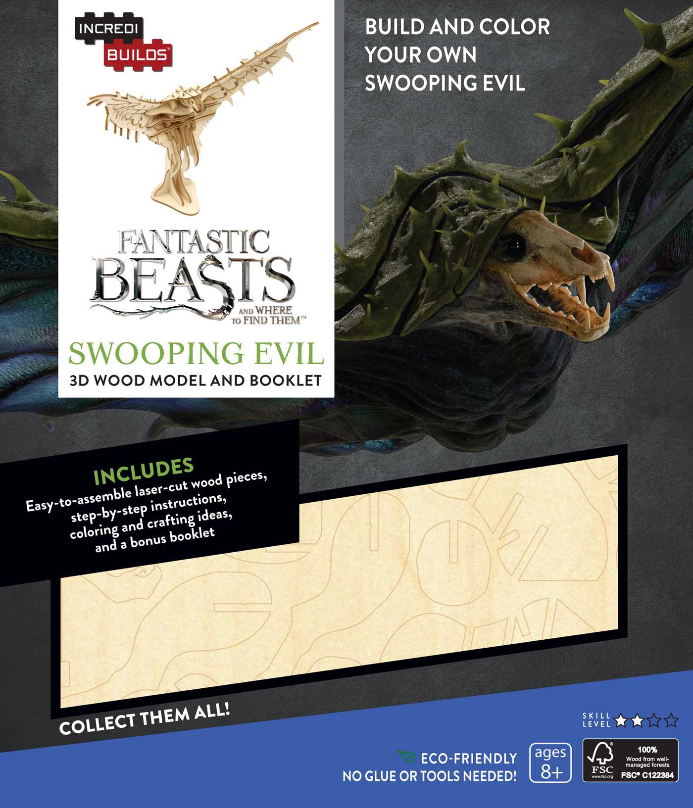 Incredibuilds fantastic beasts and where to find them swooping evil 3d wood model and booklet 9781682980606 hr