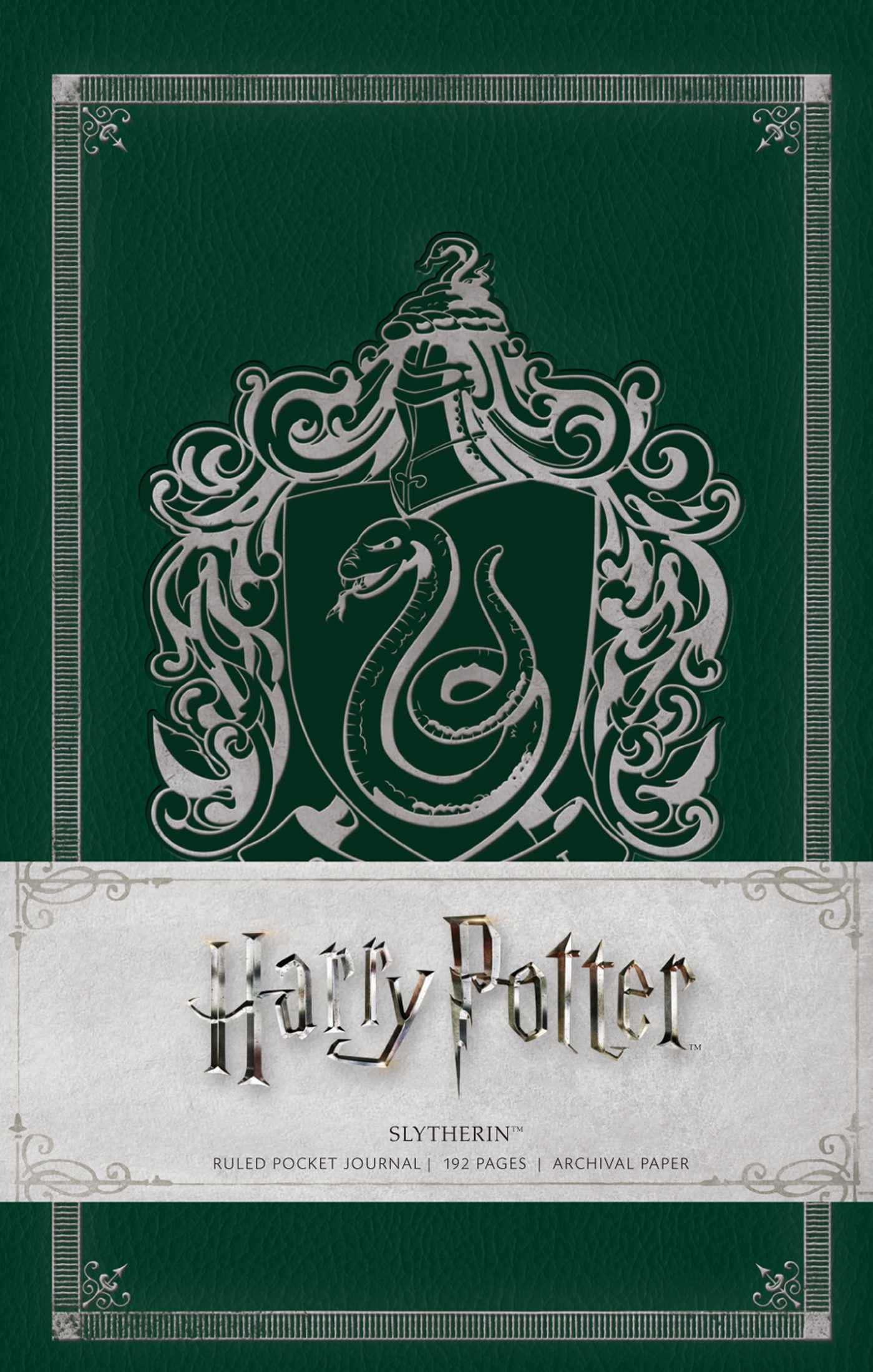 Harry Potter Book Lengths Pages : Harry potter slytherin ruled pocket journal book by