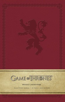 game of thrones house lannister ruled notebook
