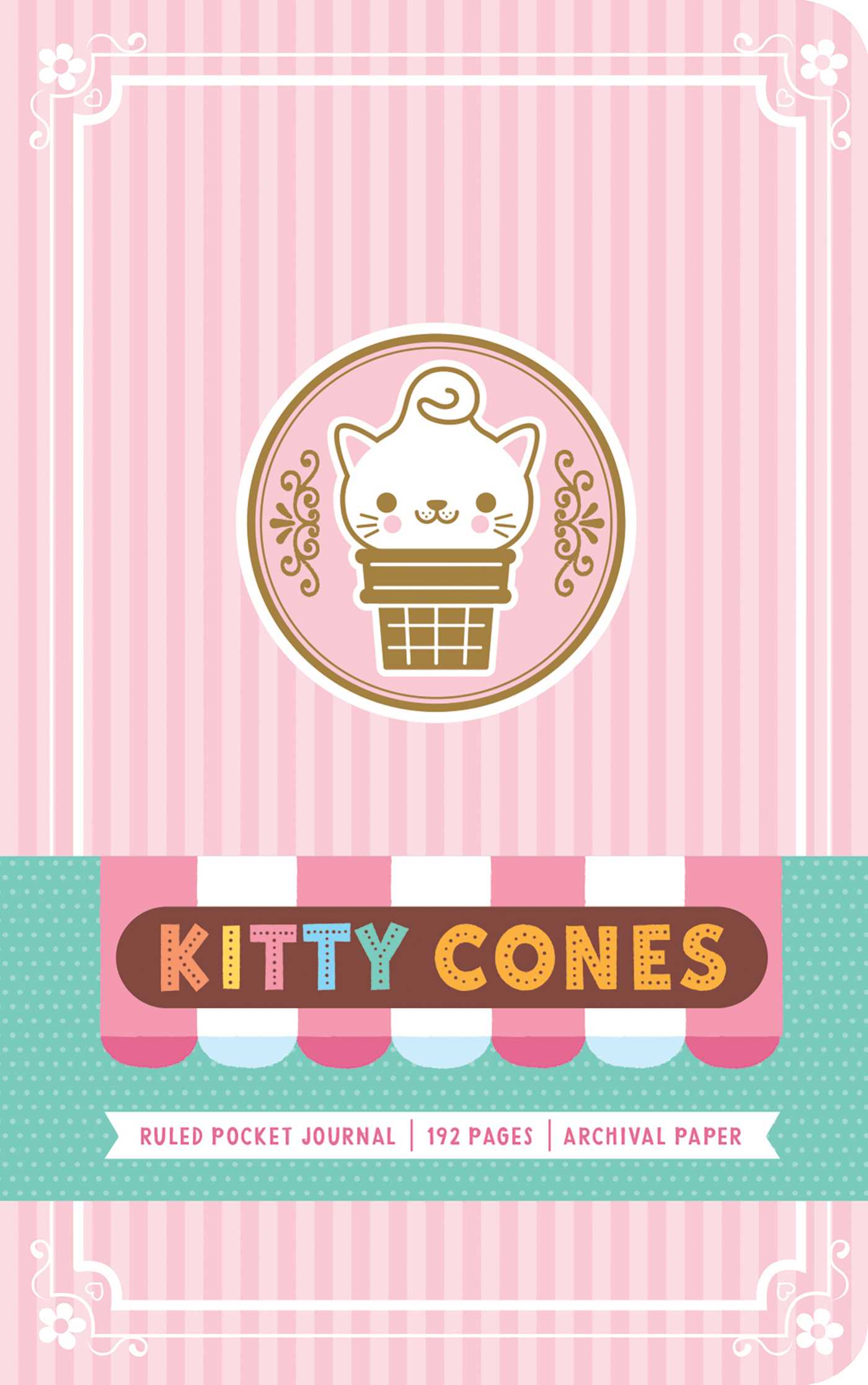 Kitty cones ruled pocket journal 9781683832386 hr