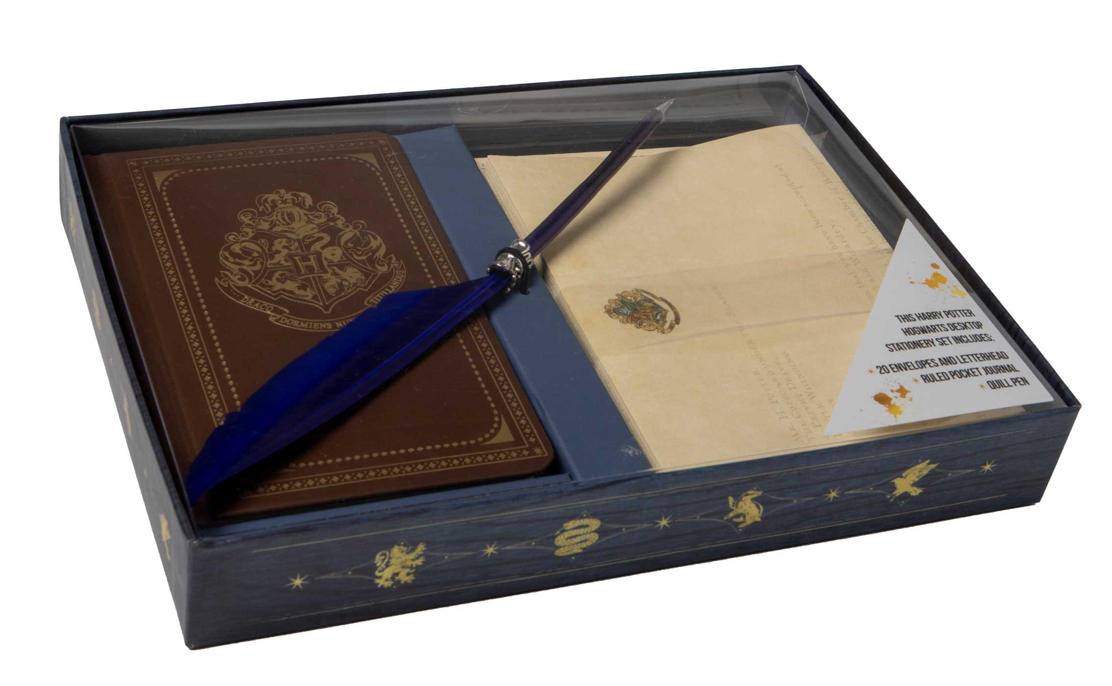Harry Potter Hogwarts School Of Witchcraft And Wizardry Desktop Stationery  Set With Pen 9781683832546 Hr ...