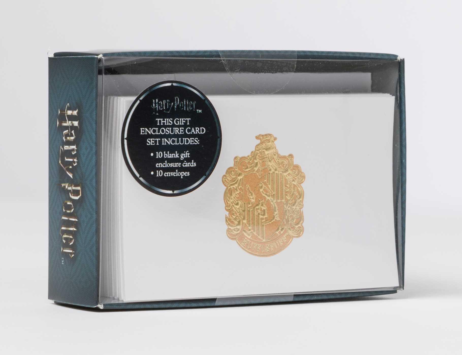 Harry potter hufflepuff crest foil gift enclosure cards set of 10 9781683832560 hr