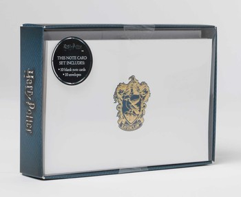 harry potter ravenclaw foil note cards set of 10