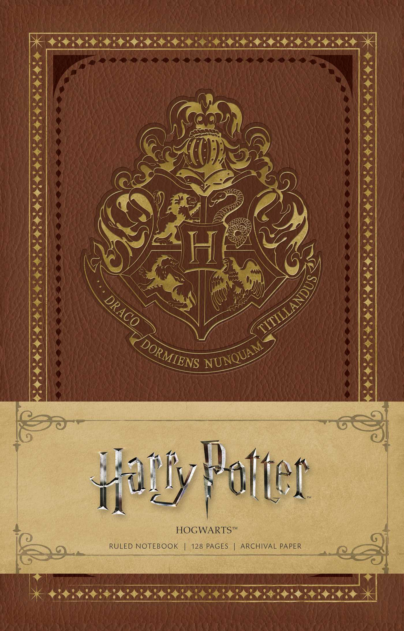 Harry Potter School Book Cover ~ Harry potter hogwarts ruled notebook book by insight editions