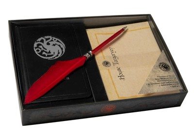 game of thrones house stark desktop stationery set with pen