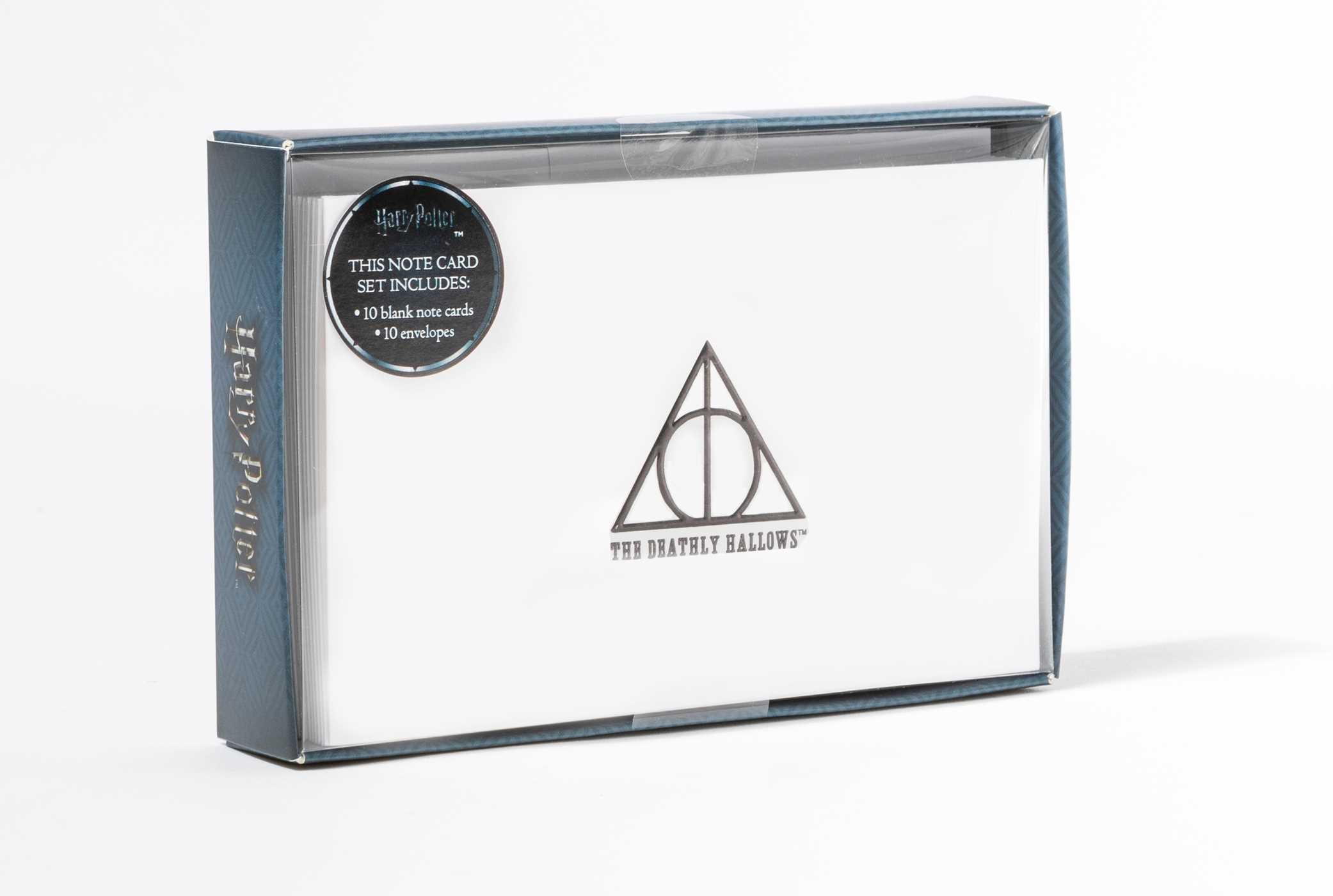 Harry potter deathly hallows foil note cards set of 10 9781683832911 hr