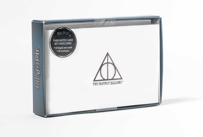 harry potter deathly hallows foil note cards set of 10