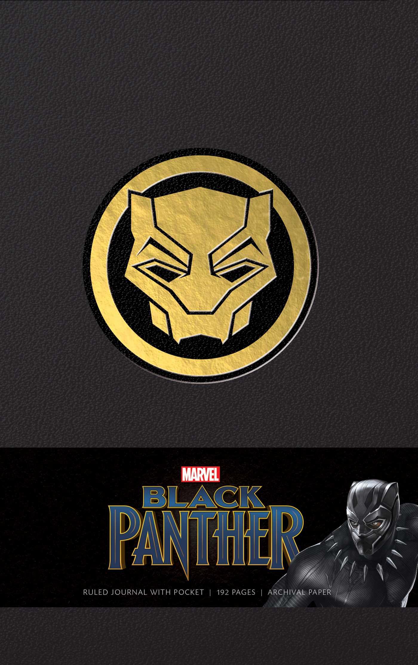 Marvels black panther hardcover ruled journal 9781683833154 hr