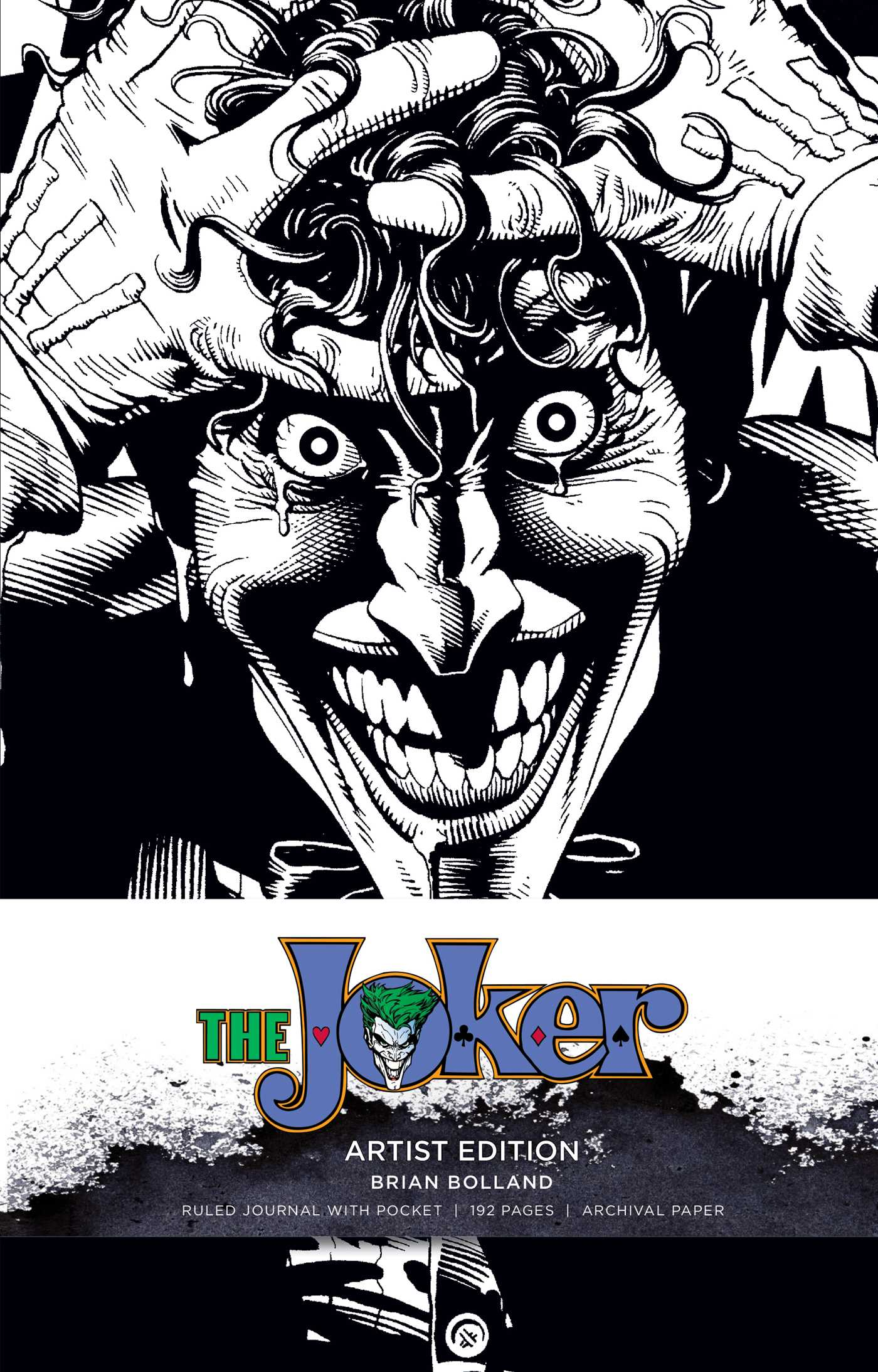 Dc comics the joker hardcover ruled journal artist edition 9781683833307 hr
