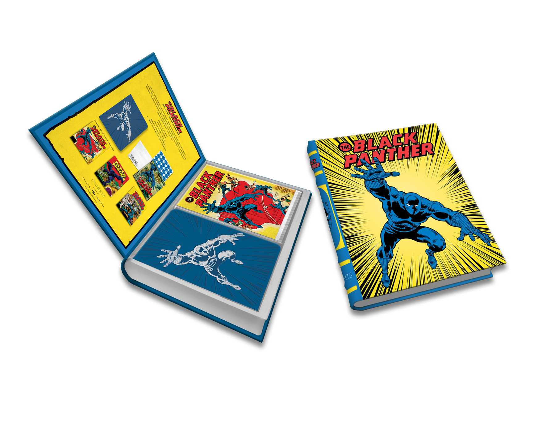 Marvel comics black panther deluxe note card set with keepsake book box 9781683833390 hr