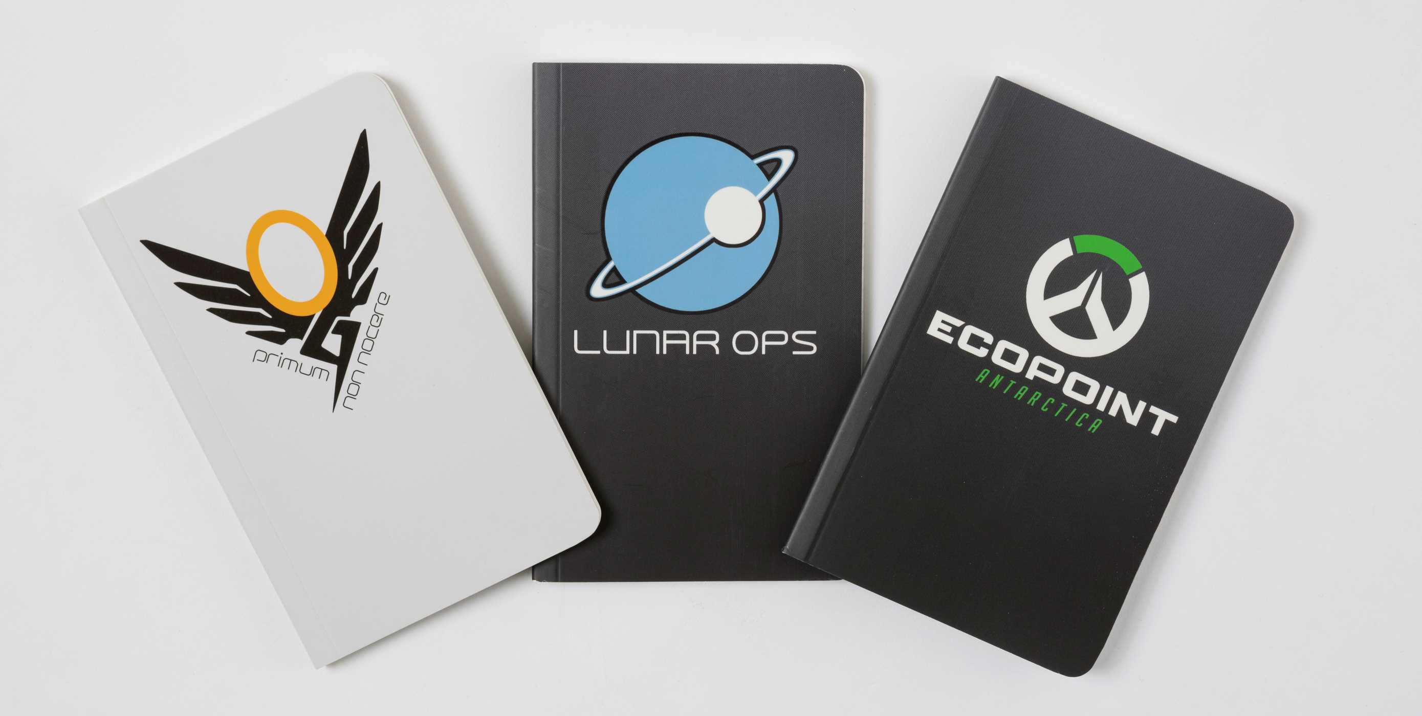 overwatch pocket notebook collection set of 3 winston mercy and mei