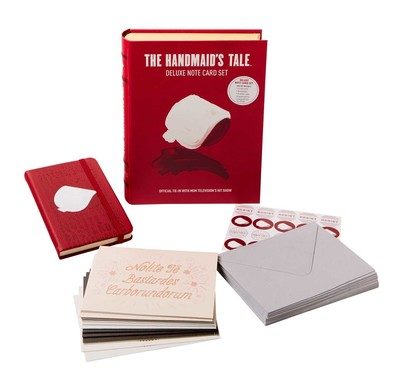 the handmaids tale deluxe note card set with keepsake book box