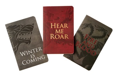 game of thrones pocket notebook collection set of 3 house words
