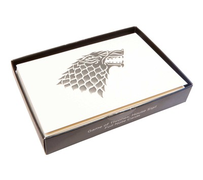 game of thrones house sigil foil note cards