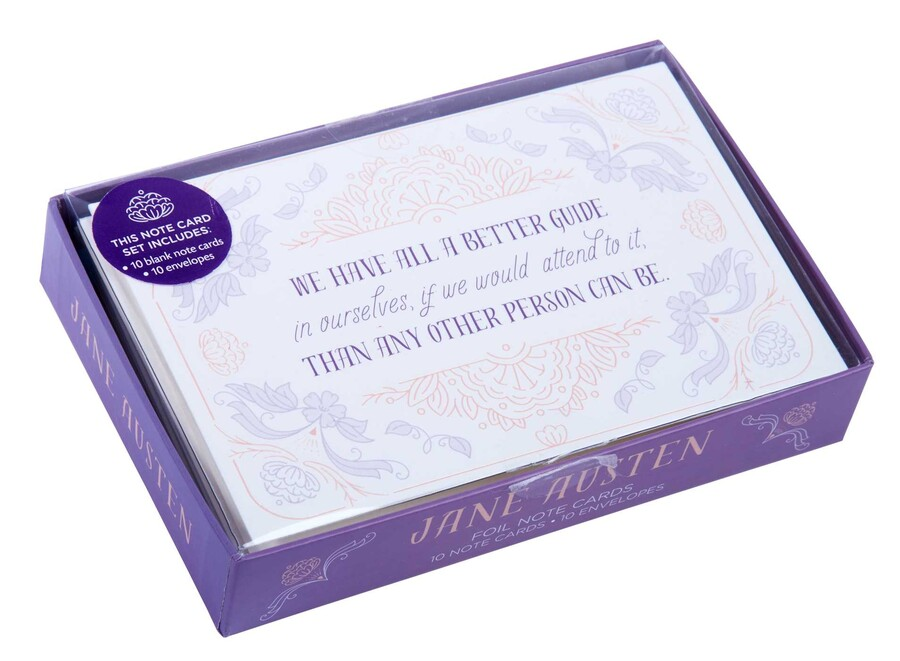 Papeterie Jane Austen (Insight editions) Jane-austen-foil-note-cards-9781683839088_xlg