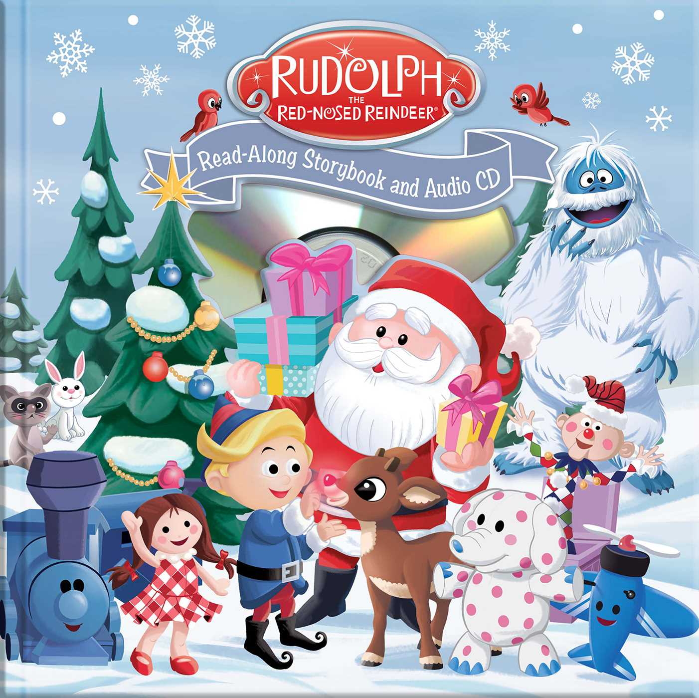 rudolph the red nosed reindeer read along book and cd book summary video official publisher page simon schuster red nosed reindeer read along book