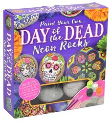 Paint Your Own Day of the Dead Neon Rocks