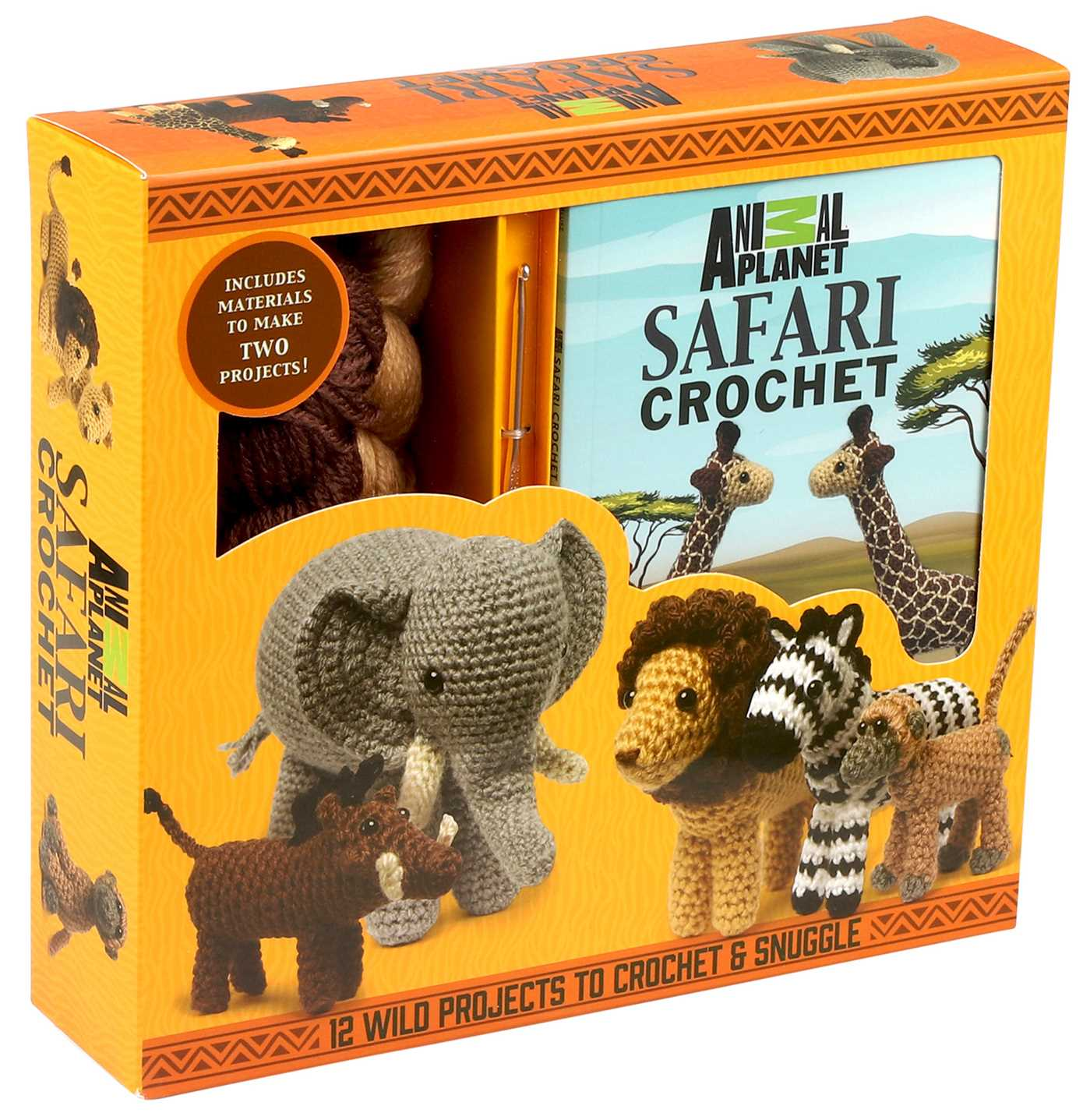 Free Crochet Paperback Book Cover Pattern ~ Animal planet safari crochet book by kati galusz official