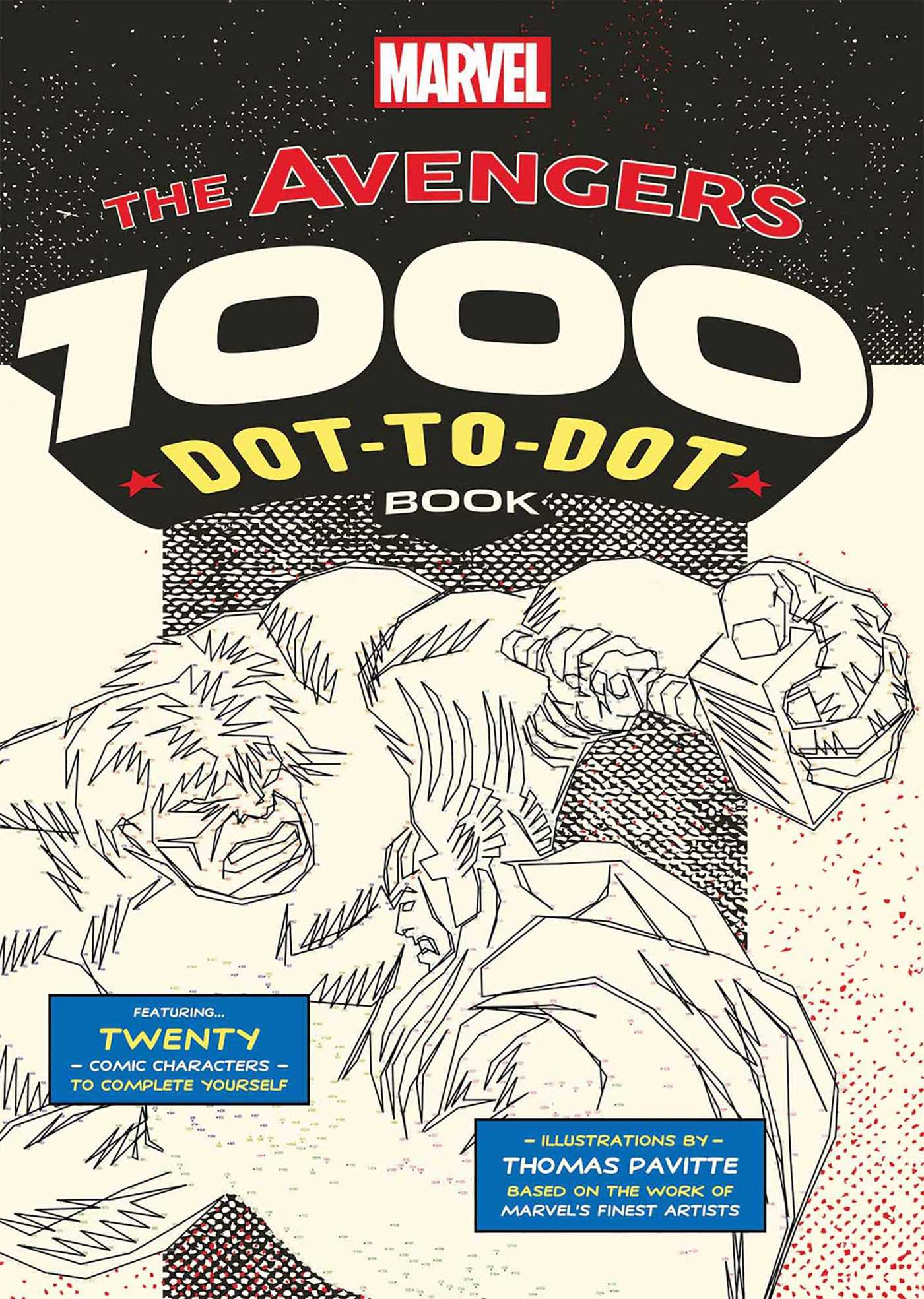 Marvel The Avengers 1000 Dot To Book 9781684122820 Hr
