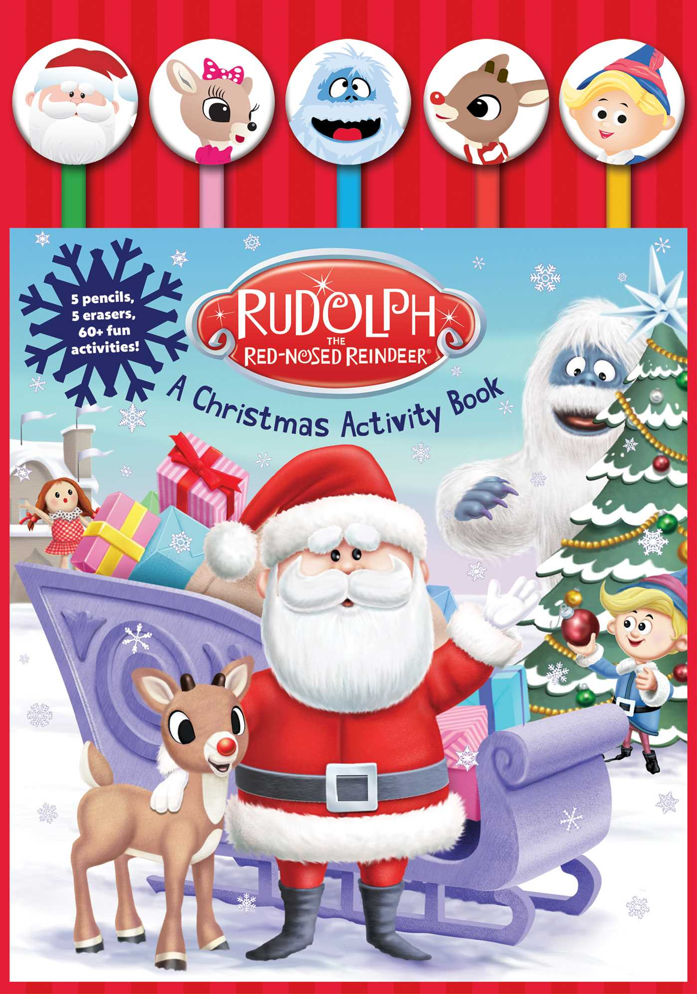 Rudolph the red nosed reindeer pencil toppers 9781684123797 hr