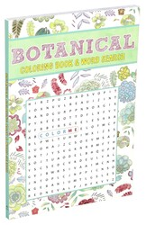Botanical Coloring Book & Word Search