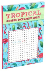 Tropical Coloring Book & Word Search