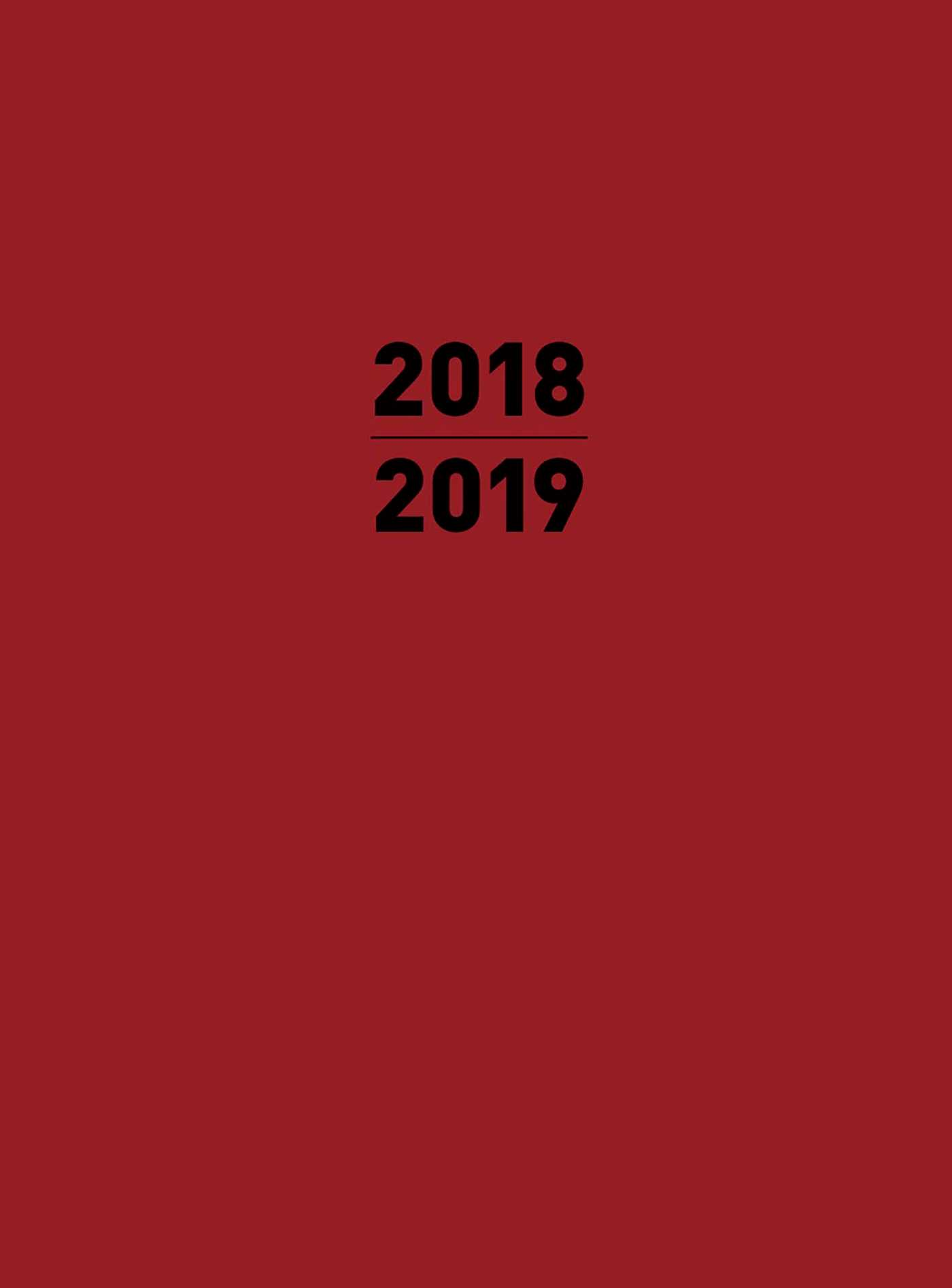 Small 2019 planner red 9781684125388 hr