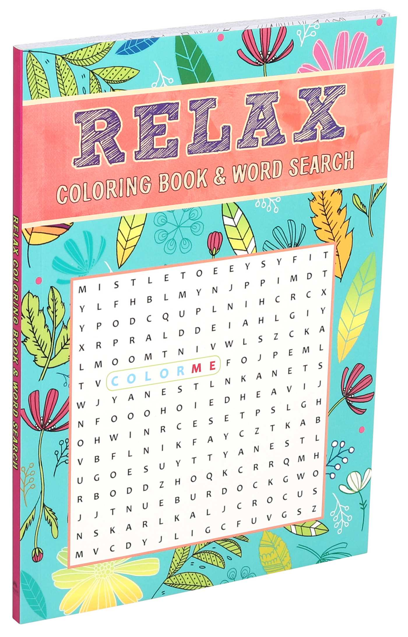 Relax Coloring Book Word Search 9781684126163 Hr
