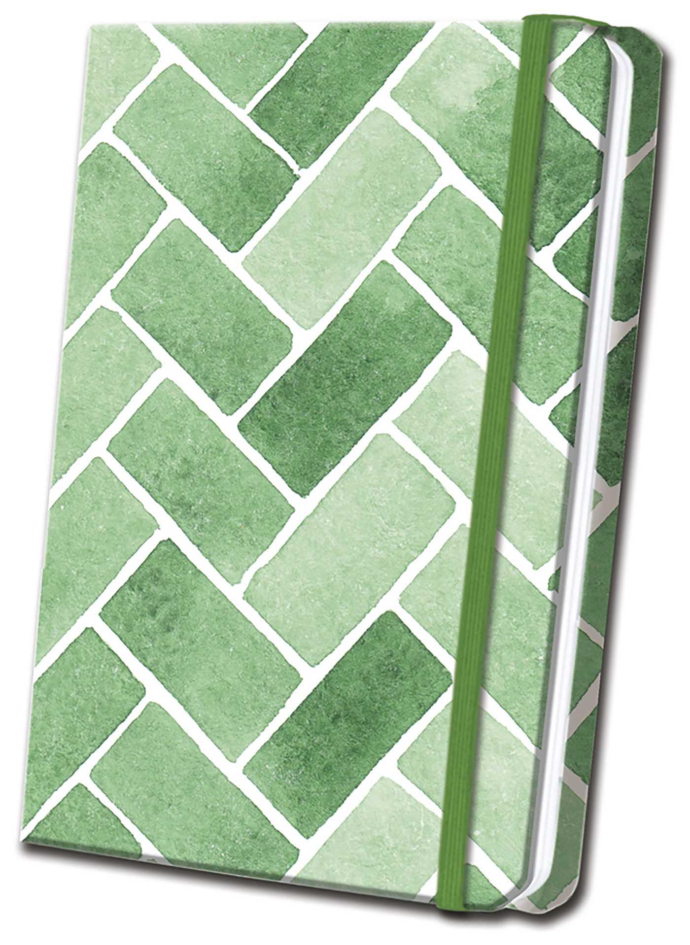 Green tile linen journal 9781684127214 hr