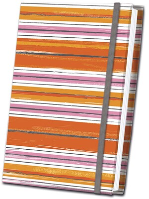 b3325143cdc0 Orange Striped Fabric Journal   Book by Editors of Thunder Bay Press ...