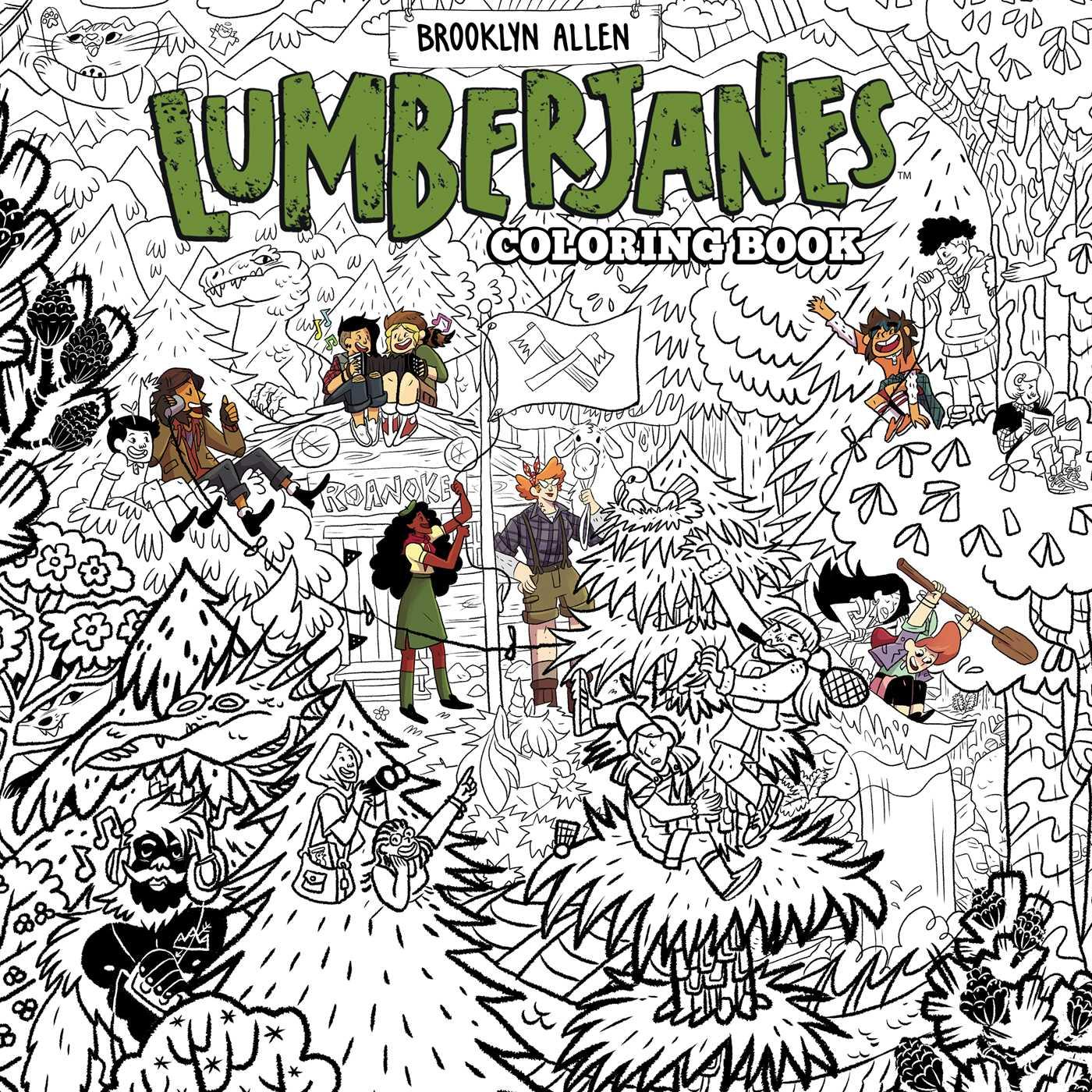 Lumberjanes coloring book 9781684152094 hr