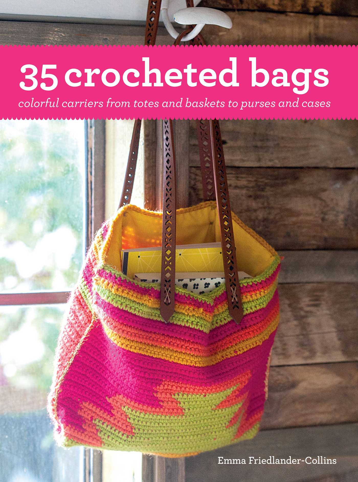 Free Crochet Paperback Book Cover Pattern ~ Crocheted bags book by emma friedlander collins official