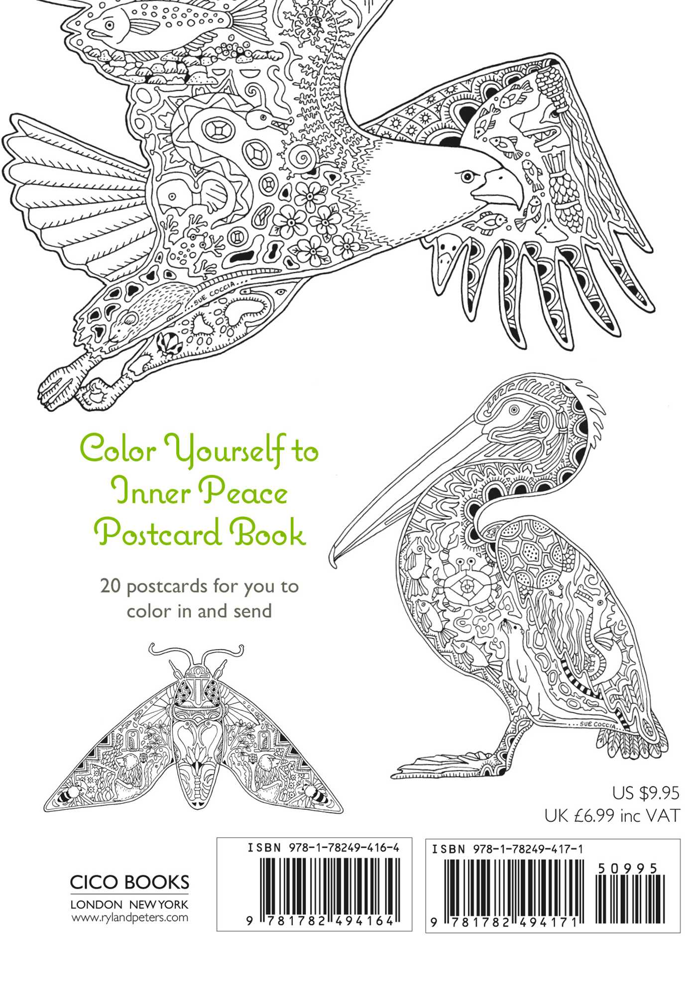 Color Yourself To Inner Peace Postcard Book 9781782494171 Hr Back