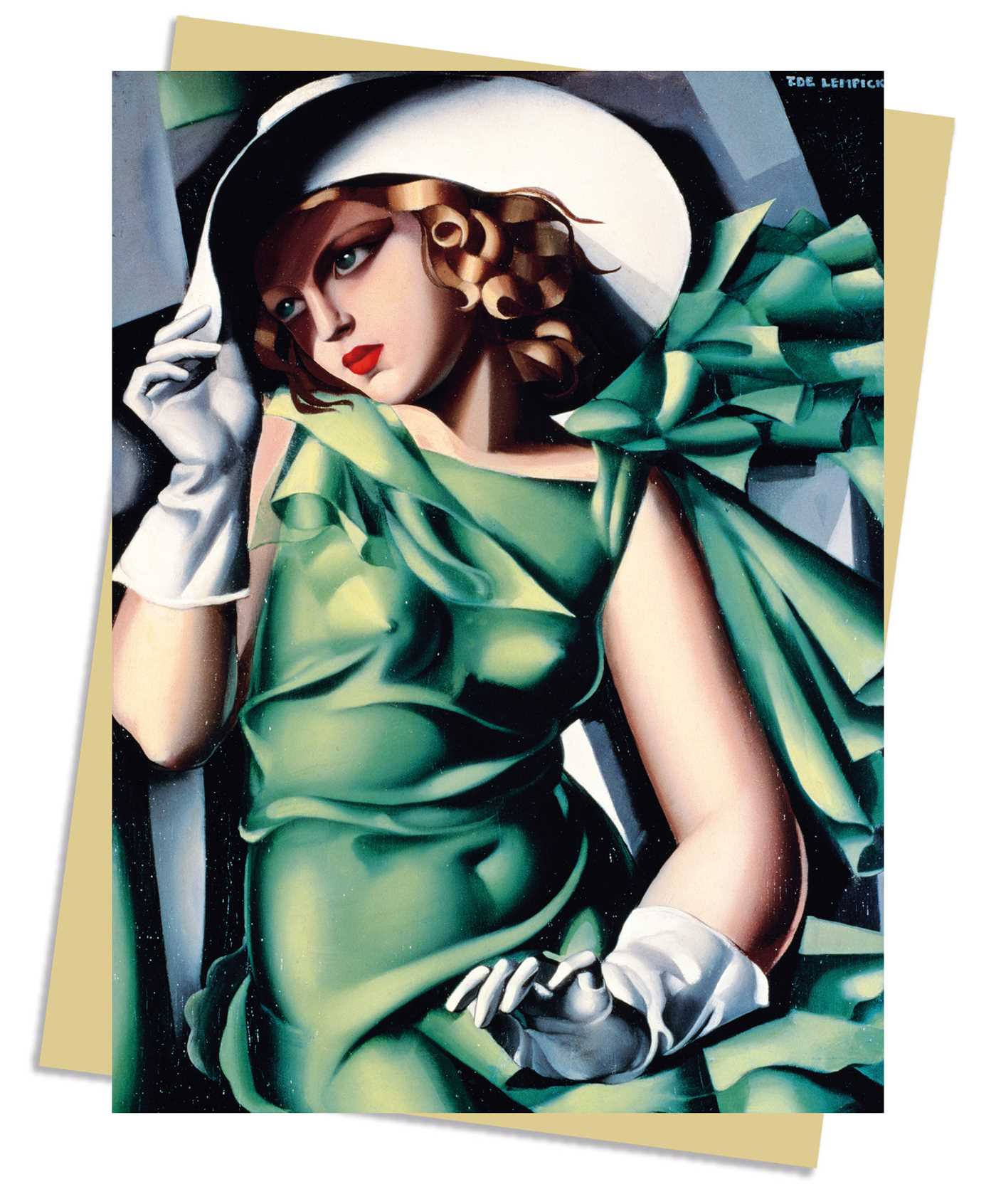 Tamara De Lempicka Young Lady With Gloves 1930 Greeting Card Book Summary Video Official Publisher Page Simon Schuster