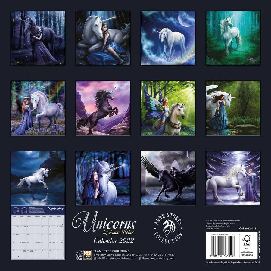 Unicorn Calendar 2022.Unicorns By Anne Stokes Wall Calendar 2022 Art Calendar Book Summary Video Official Publisher Page Simon Schuster