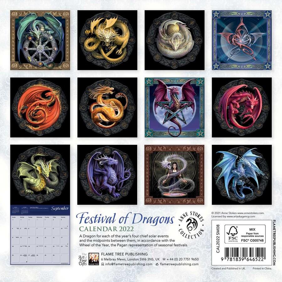 Pagan Calendar 2022.Anne Stokes Festival Of Dragons Mini Wall Calendar 2022 Art Calendar Book Summary Video Official Publisher Page Simon Schuster
