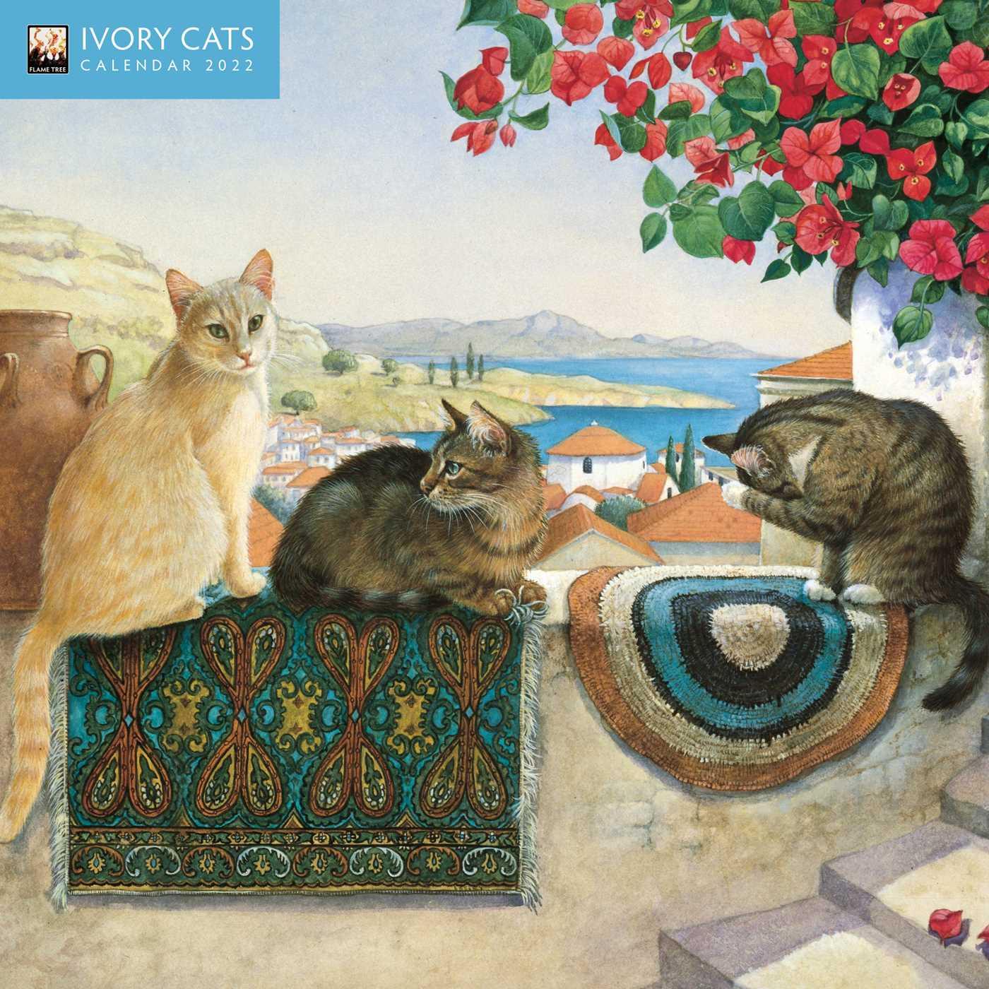 Cat Calendar 2022.Ivory Cats Mini Wall Calendar 2022 Art Calendar Book Summary Video Official Publisher Page Simon Schuster