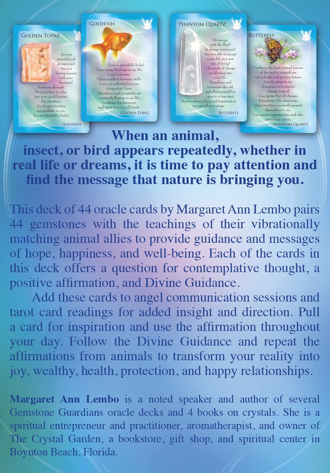 The animal allies and gemstone guardians cards 9781844097418 hr back