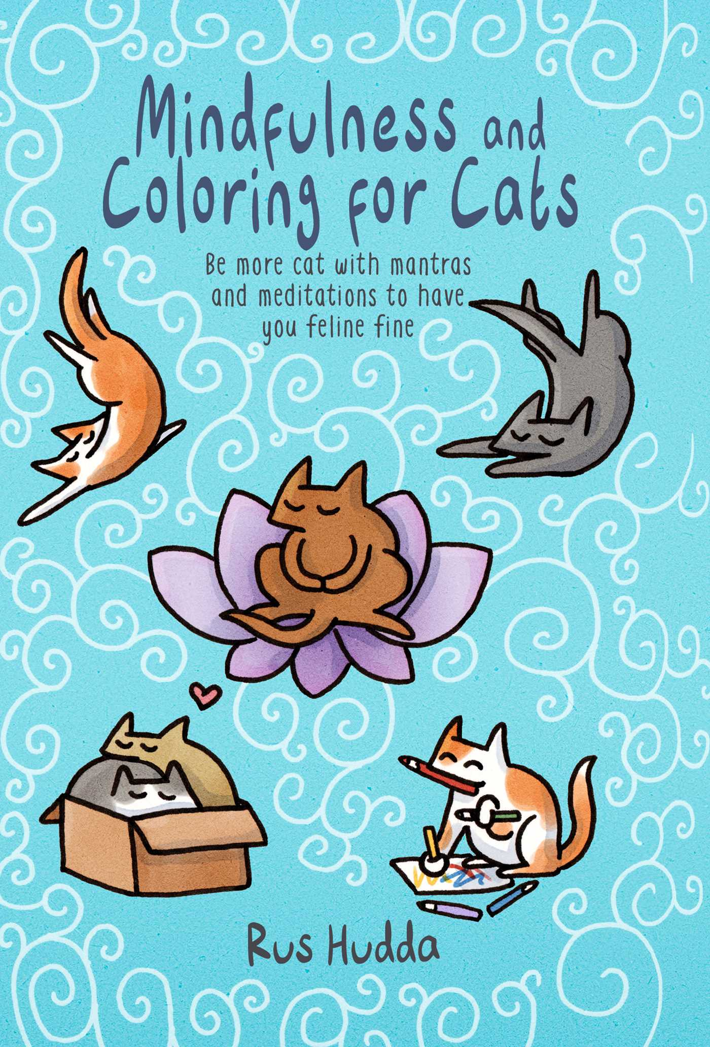Mindfulness and coloring for cats 9781911026150 hr