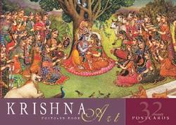 Krishna Art Postcard Book