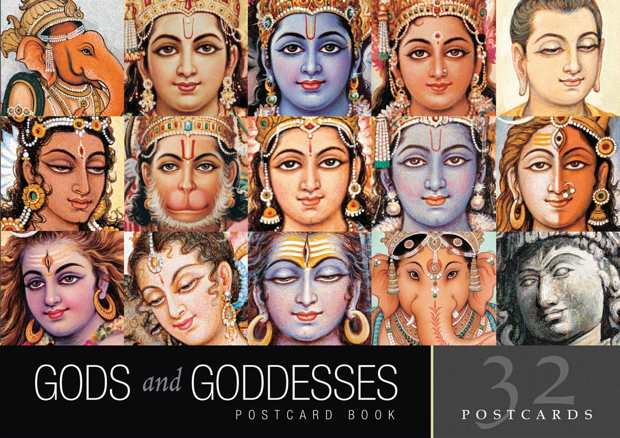 gods and goddesses postcard book book by indra sharma official