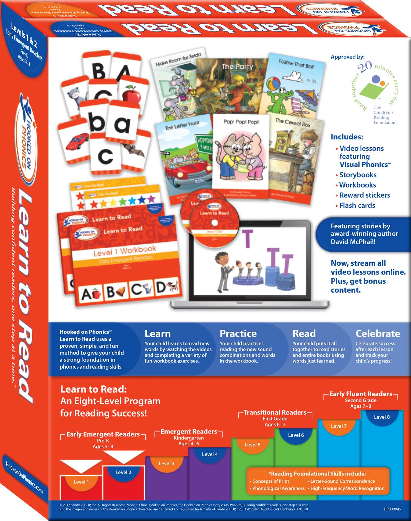 Levels 1/&2 Complete: All About Letters 1 Hooked on Phonics Learn to Read Early Emergent Readers | Pre-K | Ages 3-4