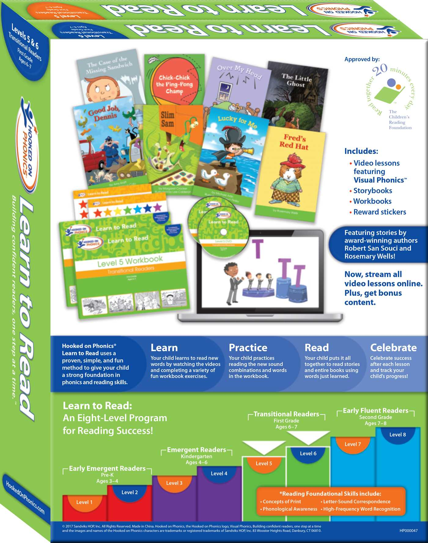 Hooked on Phonics Learn to Read - Levels 5&6 Complete | Book