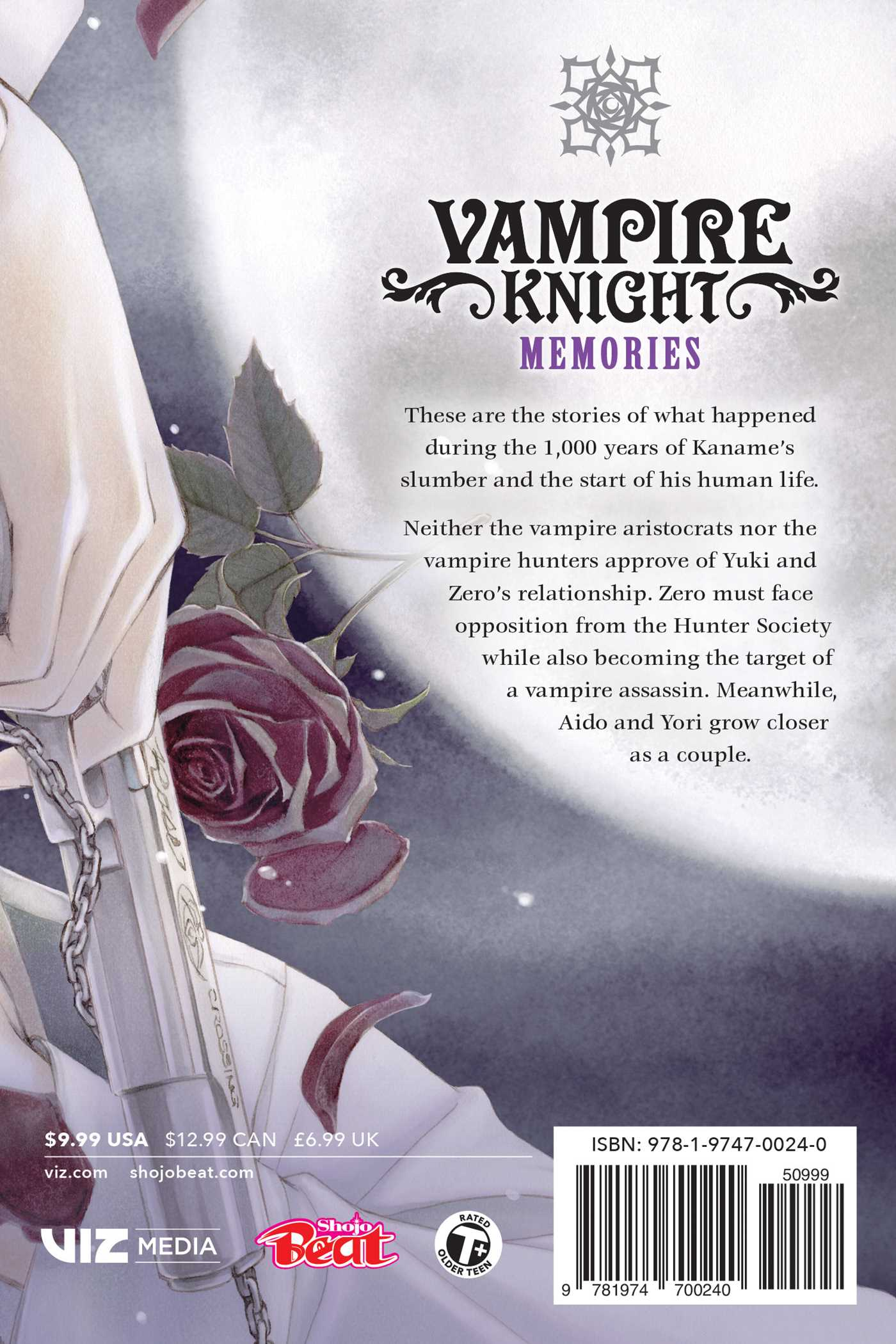 Vampire knight memories vol 2 9781974700240 hr back