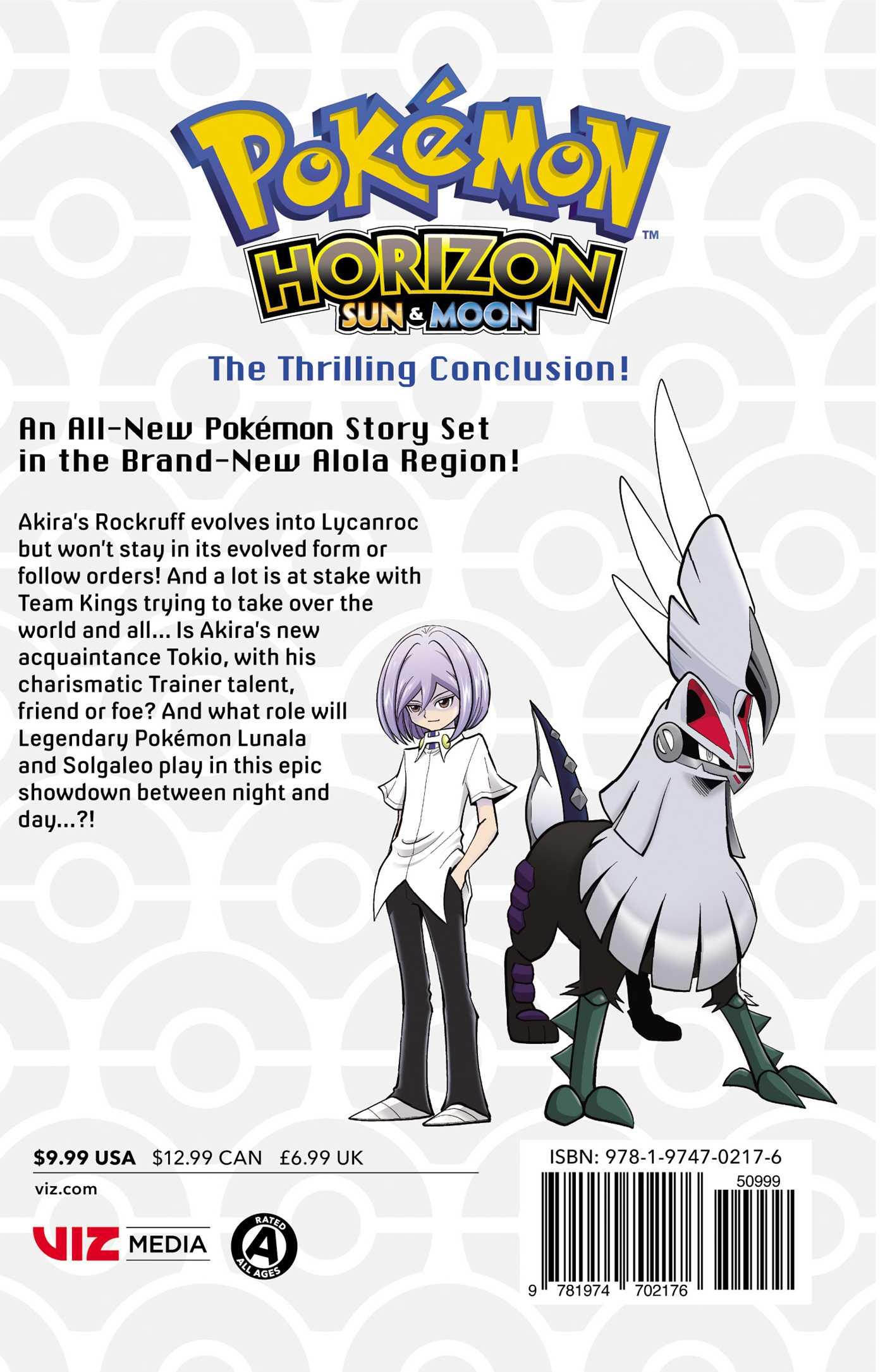 Pokemon horizon sun moon vol 2 9781974702176 hr back