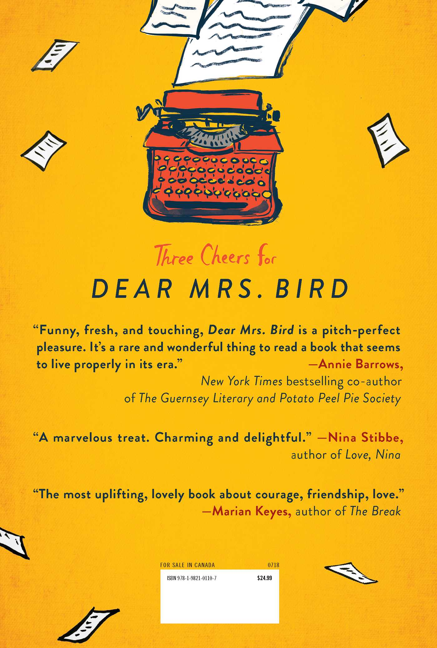 Dear mrs bird 9781982101107 hr back