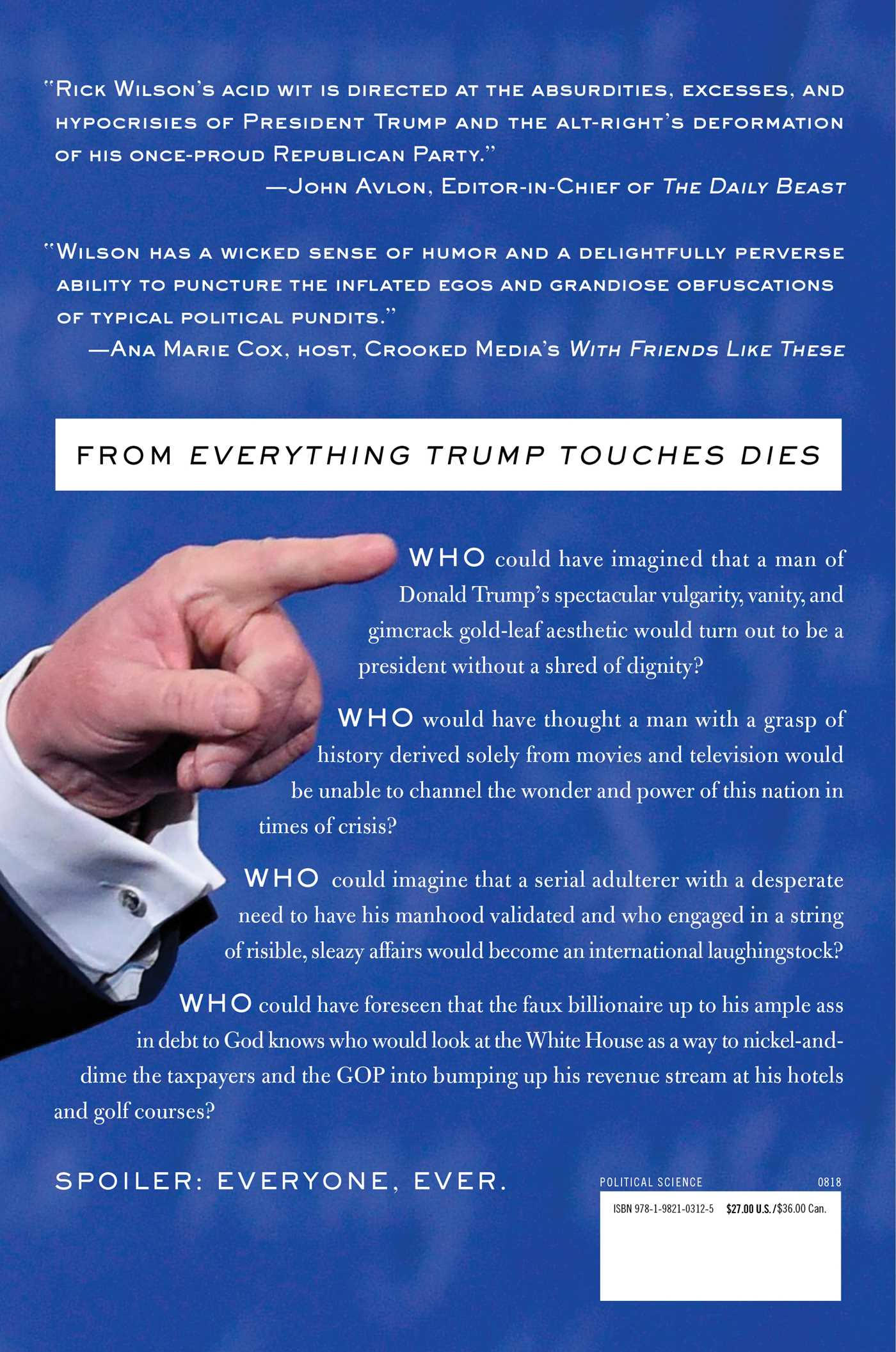 Everything trump touches dies 9781982103125 hr back