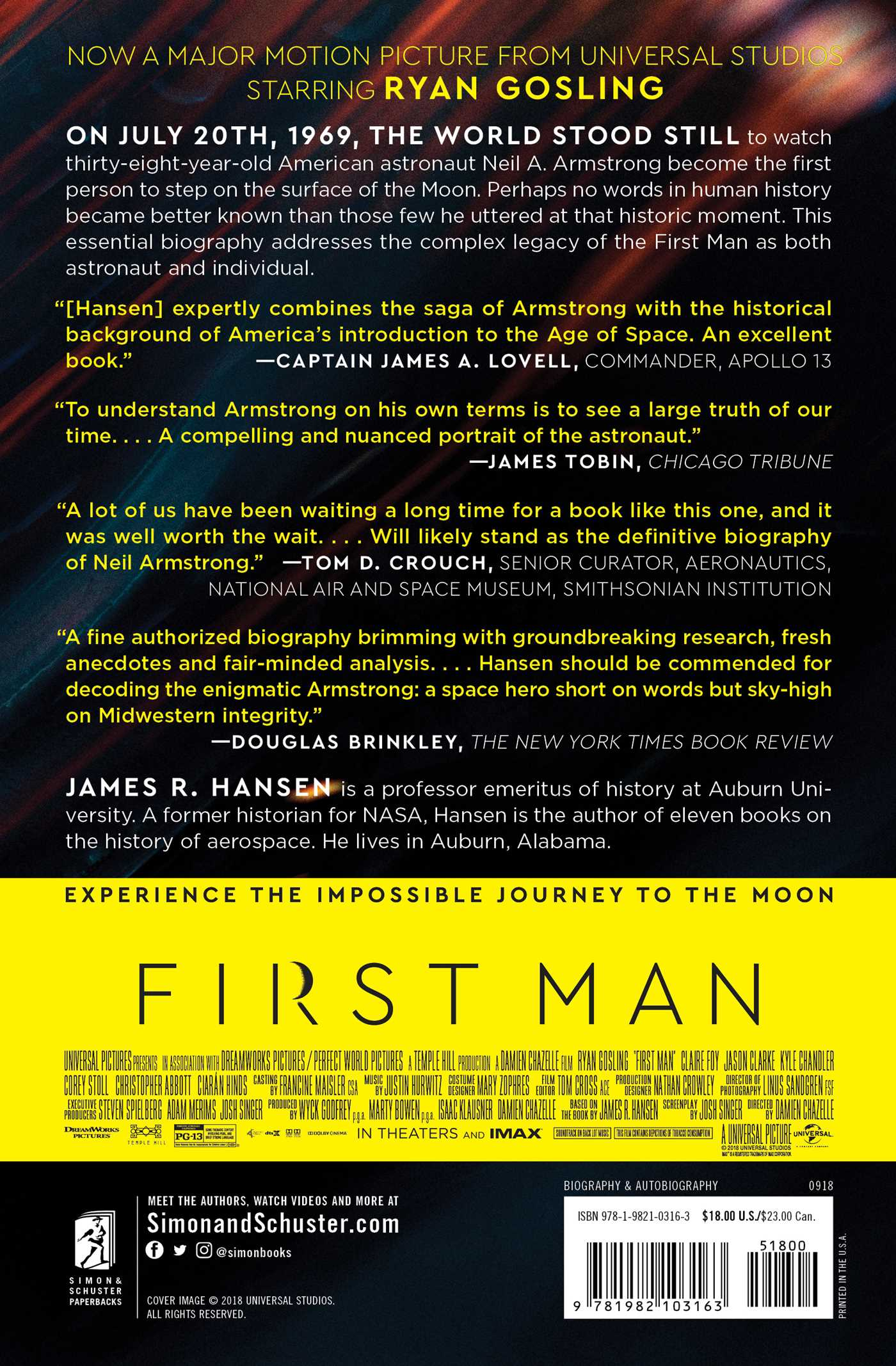 First man 9781982103163 hr back